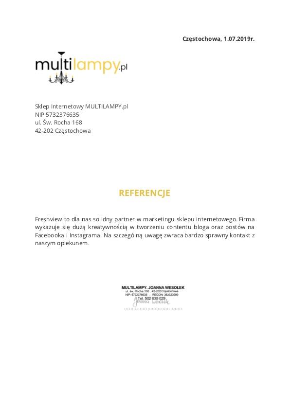 Referencje Freshview Multilampy